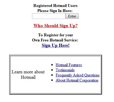 hotmail evolution