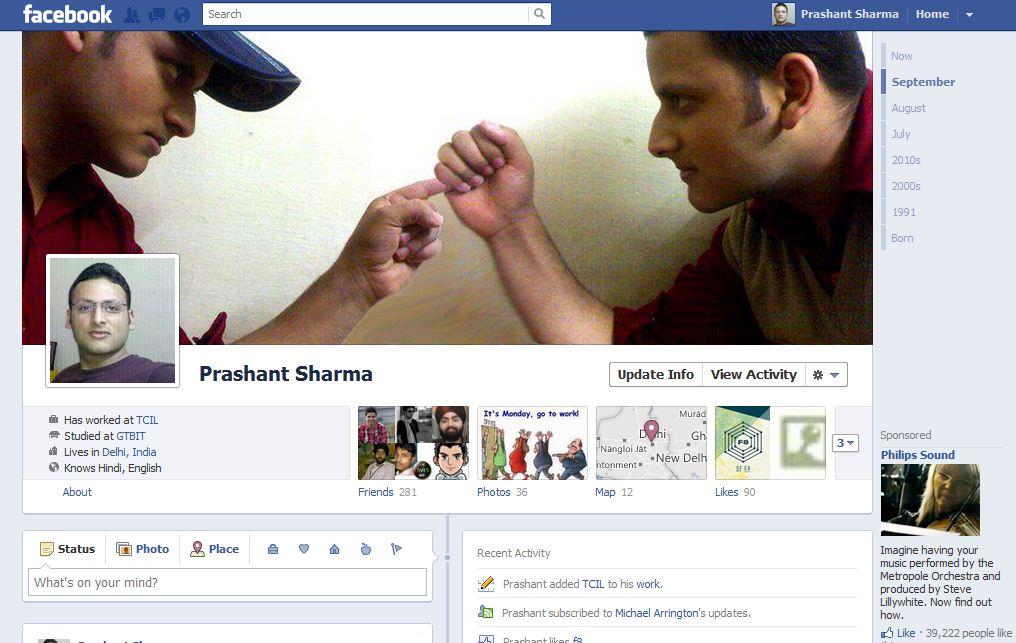 Facebook Timeline feature