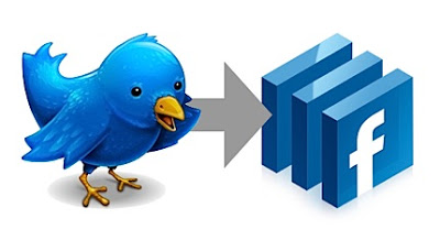 how to update facebook status from twitter