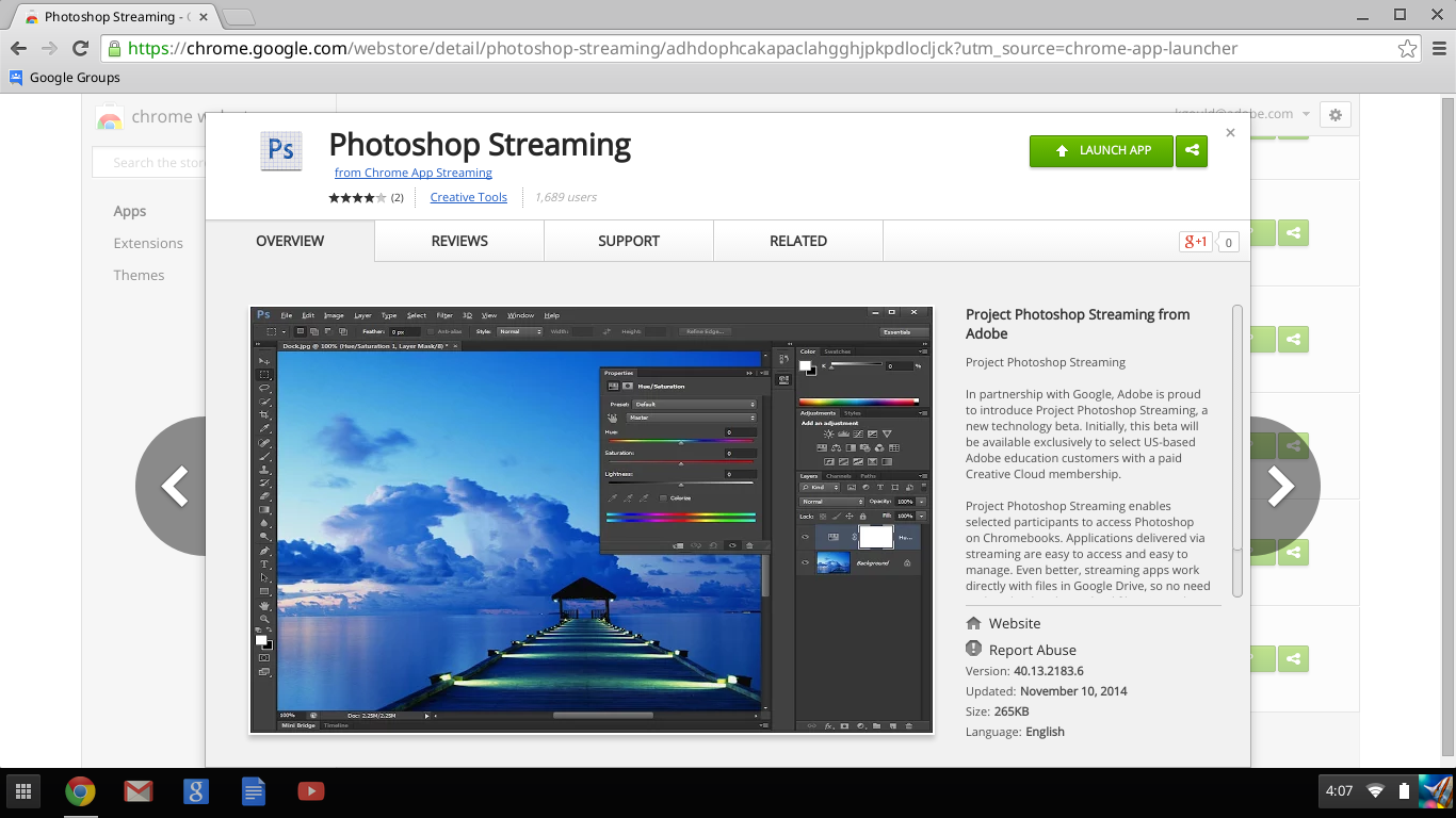 Streaming-Ps-in-the-Chrome-Store