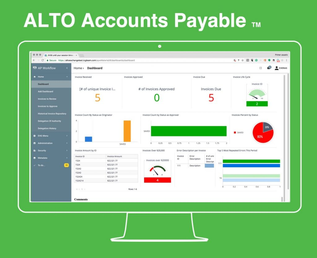 ALTO accounts payable