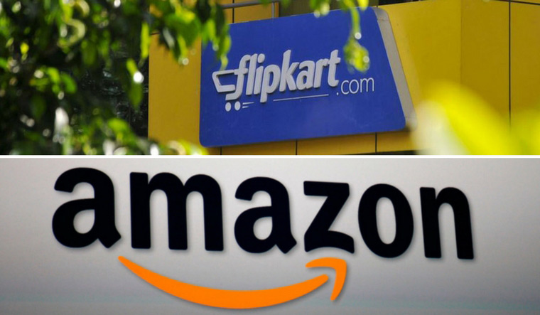 logo of Flipkart and Amazon