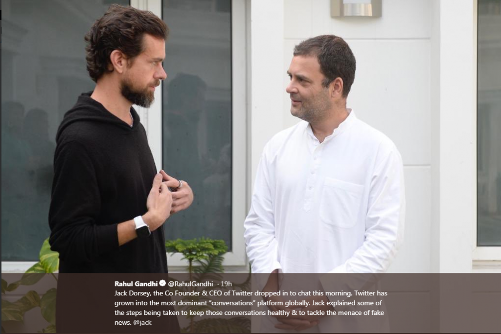 Rahul Gandhi and Jack Dorsey