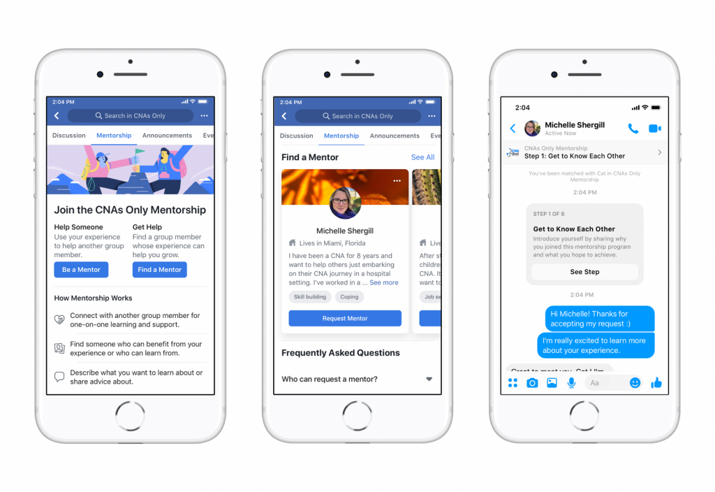 Facebook's Job Seekers App Screen shot