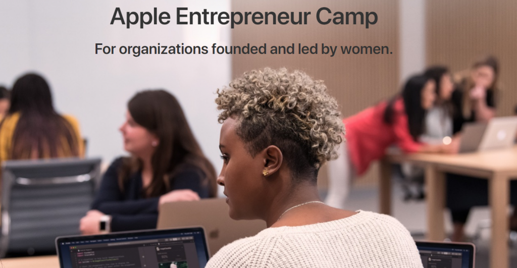 Apple camp website screen shot