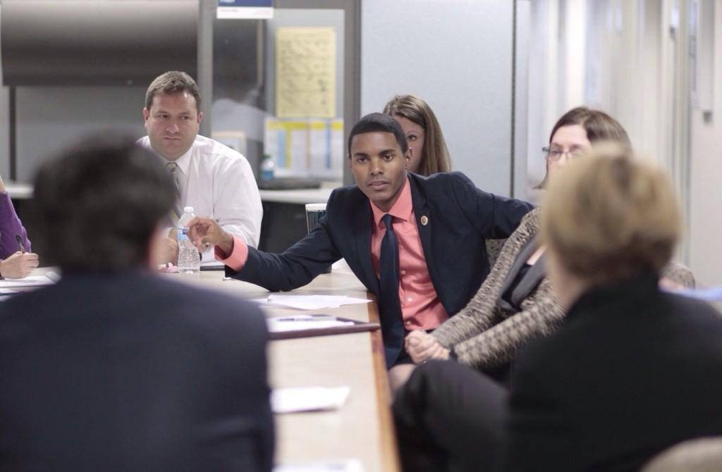 Ritchie Torres in a meeting
