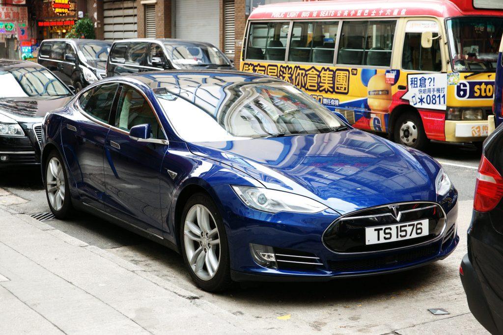 Tesla car in China