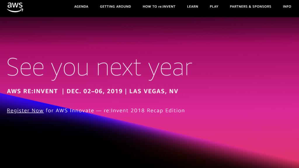 AWS website screen capture