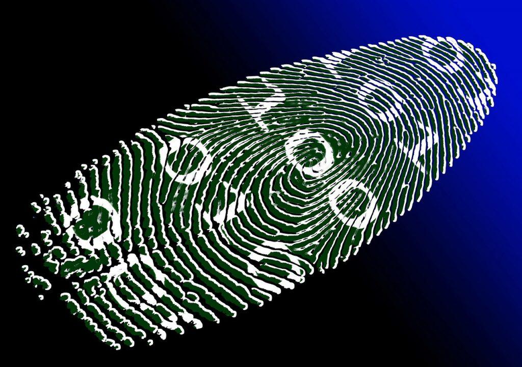 A digital finger print image