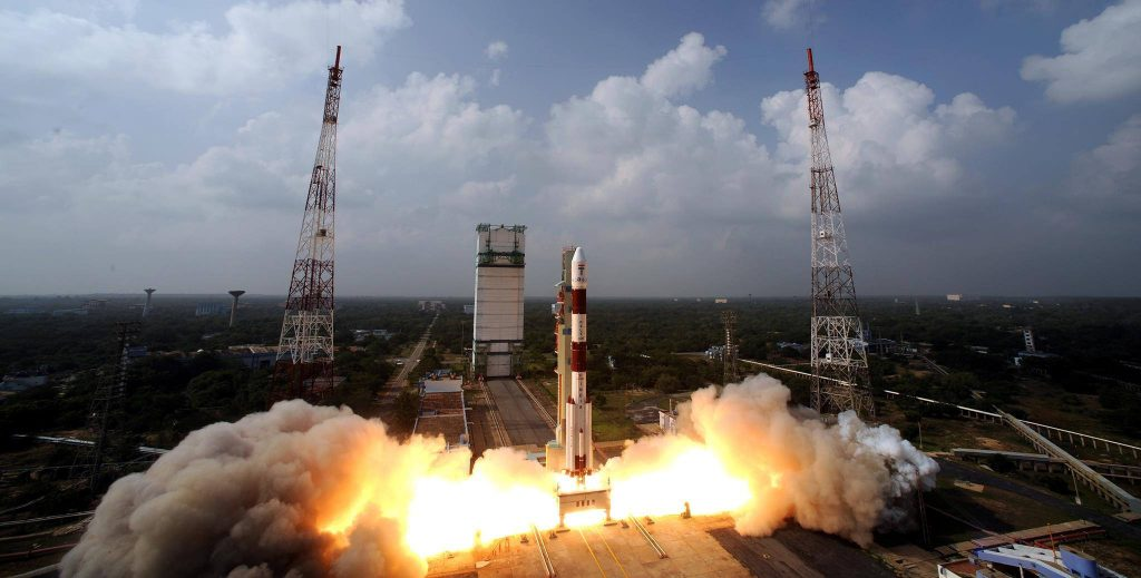 ISRO launching a PSLV satellite