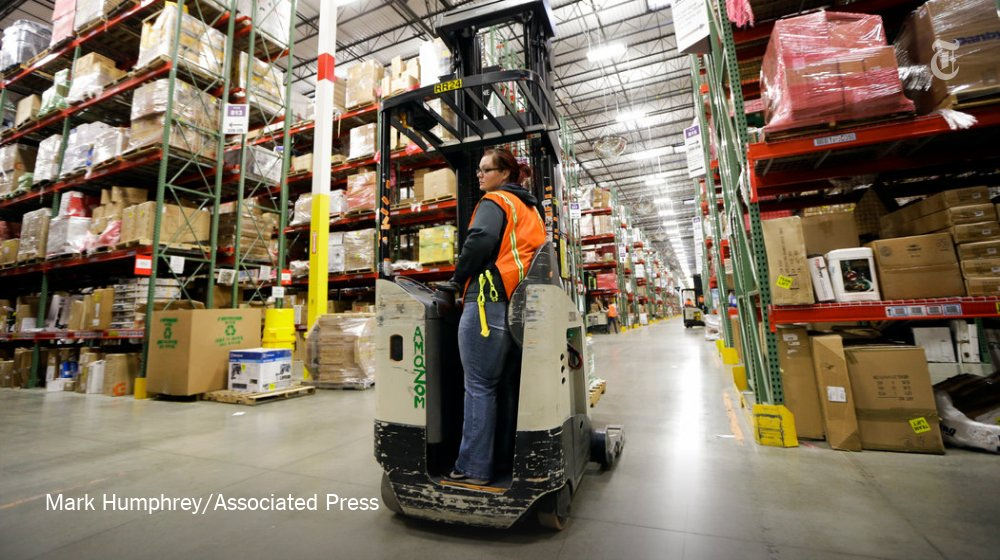 Amazon Worker in the warehouse