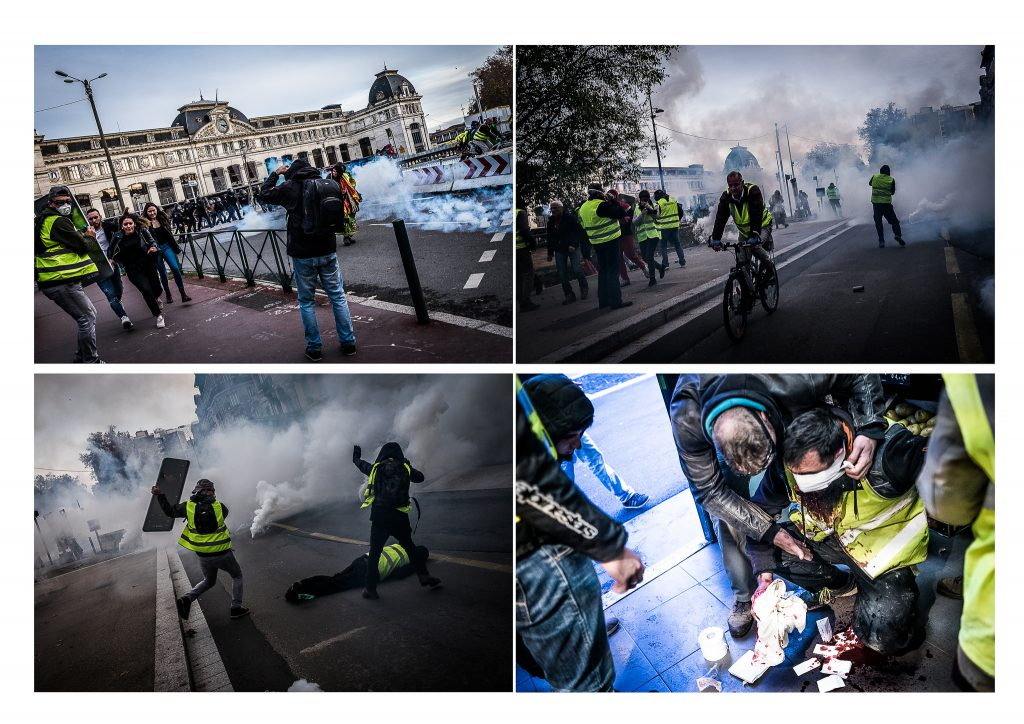 Yellow Jacket protesters in Paris