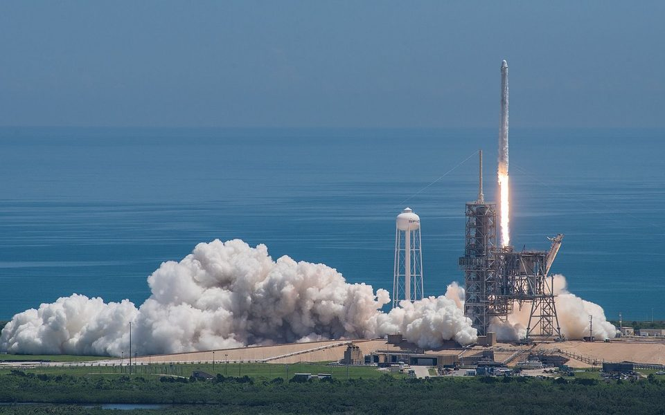 SpaceX's rocket launch.