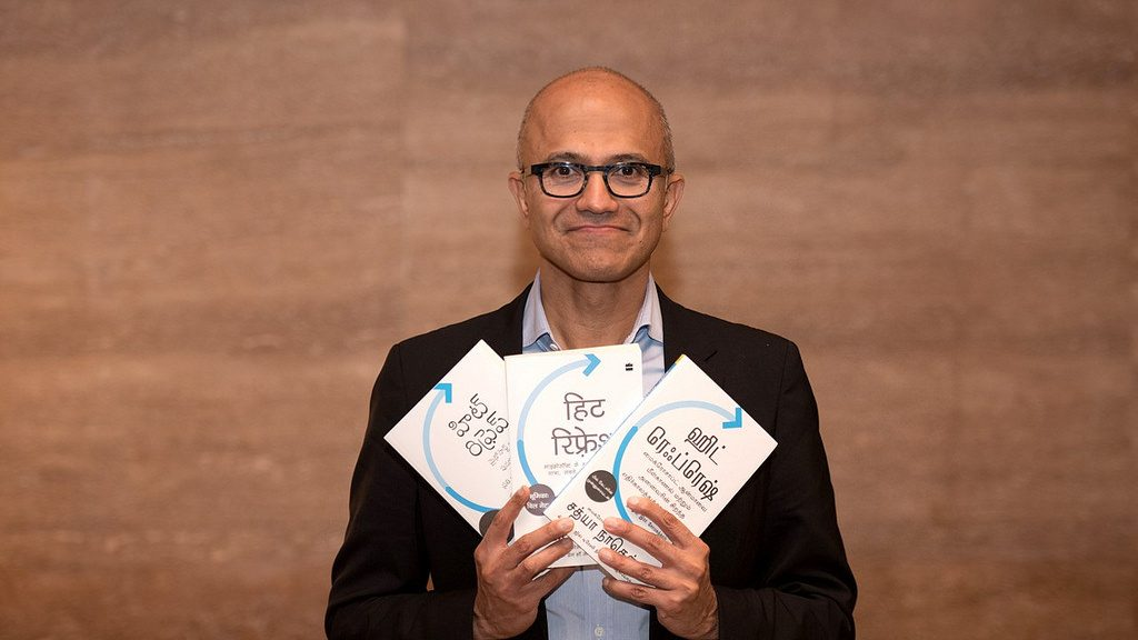 Satya Nadella on his book launch hit refresh