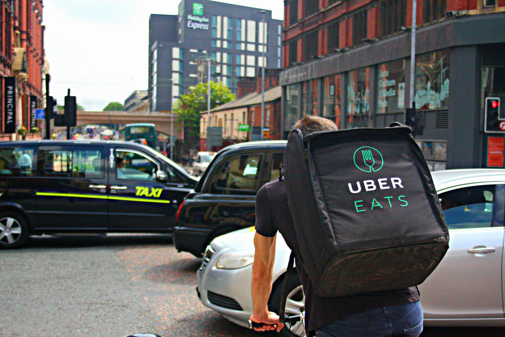 UberEats delivery boy