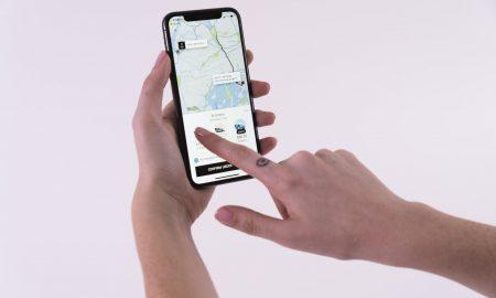 Uber app selection
