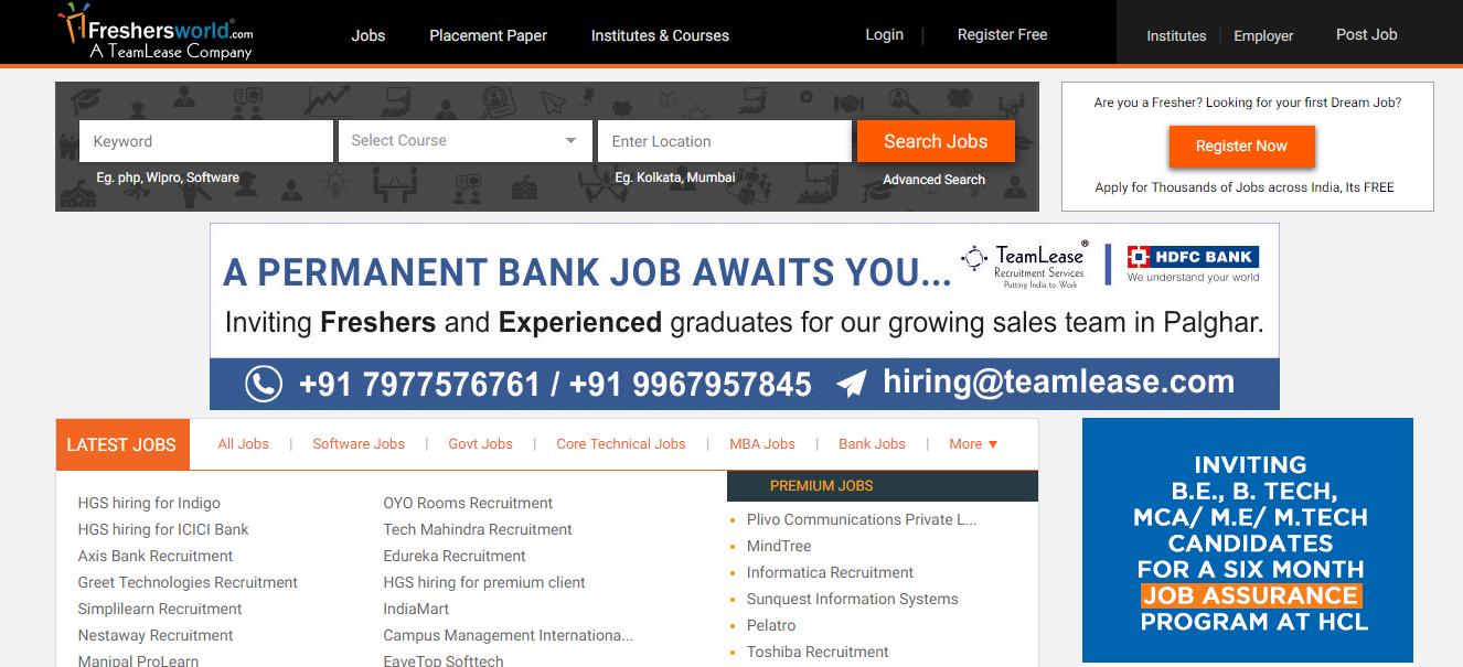 freshersworld- Freshers Jobs Online,Recruitment