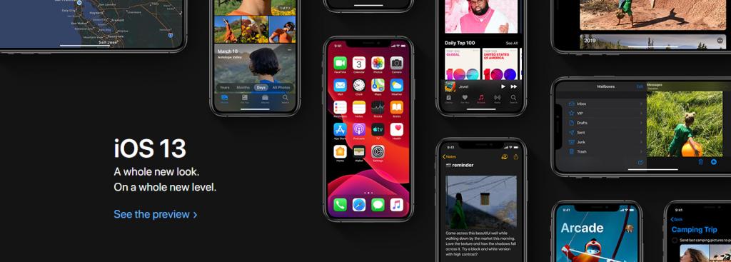 Apple iOS 13 banner