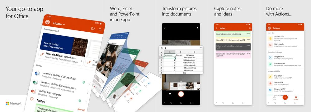 Microsoft Office apps in one app