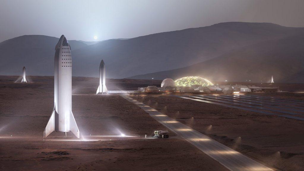 Mars-city depiction